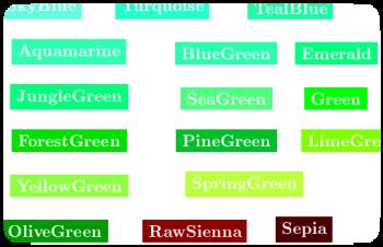 kile user defined symbols for predefined color names